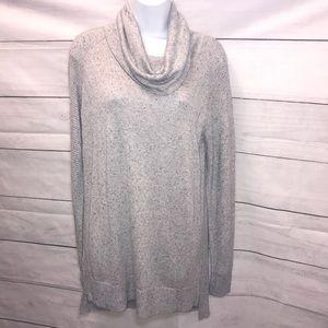 NEW! Magaschoni Cowl Neck Tunic Gray Sweater-M